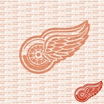 NHL Fanatic: Detroit Red Wings 12 x 12 Paper