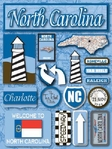 North Carolina Dimensional Stickers