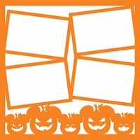 Not So Scary Halloween: Pumpkin 12 x 12 Overlay Laser Die Cut