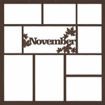 November 12 x 12 Overlay Laser Die Cut