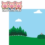 Nursery Rhymes: Three Little Pigs 2 Piece Laser Die Cut Kit