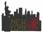 NY The Big Apple Laser Die Cut