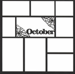 October 12 x 12 Overlay Laser Die Cut
