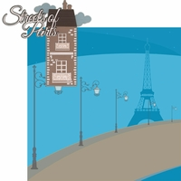 Oh La La: Streets Of Paris 2 Piece Laser Die Cut Kit