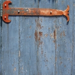 Old Blue Door 12 x 12 Paper