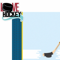 On The Ice: Love Hockey 2 Piece Laser Die Cut Kit