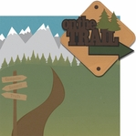 On The Trail: On The Trail 2 Piece Laser Die Cut Kit