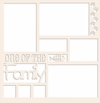 One of the Family: Cat 12 x 12 Overlay Laser Die Cut