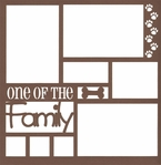 One of the Family: Dog 12 x 12 Overlay Laser Die Cut