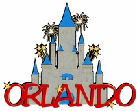 Orlando With Castle Laser Die Cut