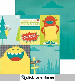 Our Lil' Monster: Adventure 12 x 12 Double Sided Paper