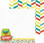 Our Lil' Monster: Rawr 12 x 12 Double Sided Paper