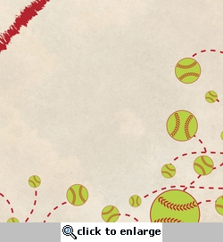 Out of the Park: Play Ball 12 x 12 Paper