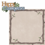 Outdoor Adventure: Happy Campers 2 Piece Laser Die Cut Kit