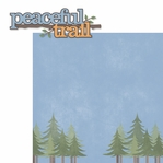 Outdoor Adventure: Peaceful Trail 2 Piece Laser Die Cut Kit
