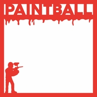 Paintball: Paintball 12 x 12 Overlay Laser Die Cut