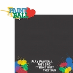 Paintball: Play Paintball 2 Piece Laser Die Cut Kit