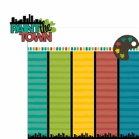 Painting Party: Paint the town 2 Piece Laser Die Cut Kit