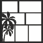 Palm Tree 12 x 12 Overlay Laser Die Cut