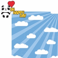 Panda: Oh Happy Day 2 Piece Laser Die Cut Kit