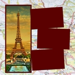 Panorama: Eiffel Tower Map Frame Kit