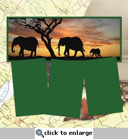 Panorama: Elephant Sunset Frame Kit