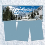 Panorama: Snowy Mountains Frame Kit