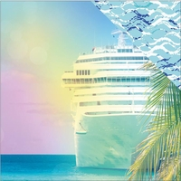Paradise Found: Cruise Ship 12 x 12 Double Sided Cardstock