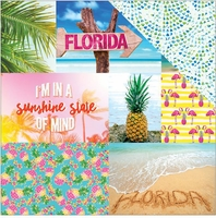 Paradise Found: Florida Tags 12 x 12 Double Sided Cardstock