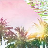 Paradise Found: Palm Trees 12 x 12 Double Sided Cardstock