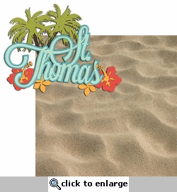 Paradise Found: St. Thomas 2 Piece Laser Die Cut Kit