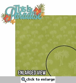 Paradise Found: This is Paradise 2 Piece Laser Die Cut Kit
