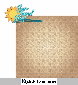 Paradise: Sun Sand Surf 2 Piece Laser Die Cut Kit