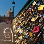 Paris: Custom Love Lock 12 x 12 Paper
