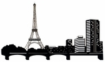 Paris Skyline Border Laser Die Cut*