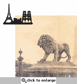 Paris Travel: City 2 Piece Laser Die Cut Kit