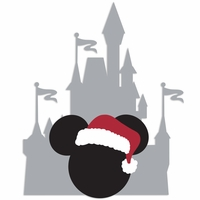 Parks: Castle Mickey Laser Die Cut