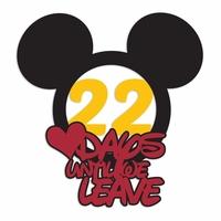Parks: Custom Mickey days until Laser Die Cut