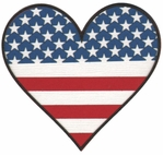 Patriotic Heart Laser Die Cut