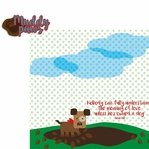 Paw Pals: Dog Muddy Paws 2 Piece Laser Die Cut Kit