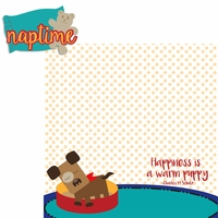 Paw Pals: Dog Nap Time 2 Piece Laser Die Cut Kit