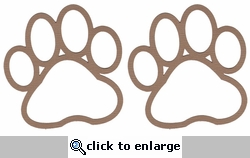 Paw Print 2 Pack Laser Die Cut