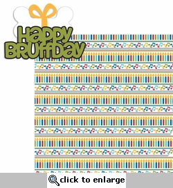 Pawty Time: Happy Bruffday 2 Piece Laser Die Cut Kit