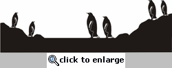 Penguins Page Border Die Cut