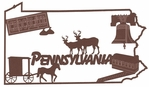 Pennsylvania Outline With Images Laser Die Cut