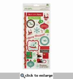 Peppermint Express: Mistlemint Phrases & Labels Remarks Stickers