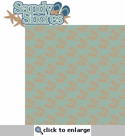 Perfect Vacation: Sandy Shores 2 Piece Laser Die Cut Kit