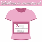Pink Power: Custom Walking in memory of Laser Die Cut