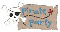 Pirate Party Laser Die Cut