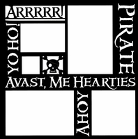 Pirate Words 12 x 12 Overlay Laser Die Cut